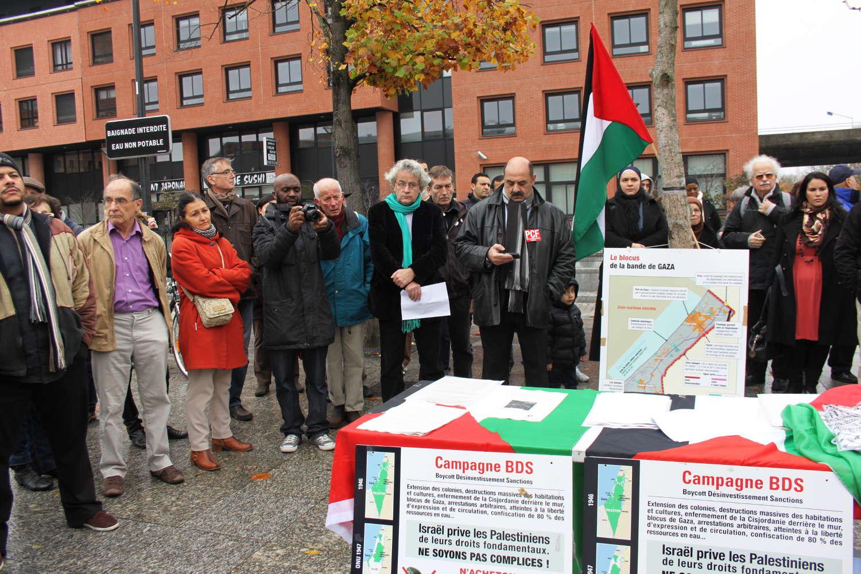 Razssemblement à Evry en solidarité avec Gaza