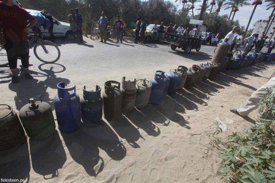Queue pour le gaz à Gaza