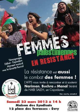 Affiche Femmes Palestiniennes en Résistance